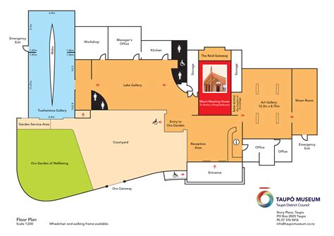 floor plan museum taupo museum taupo district council