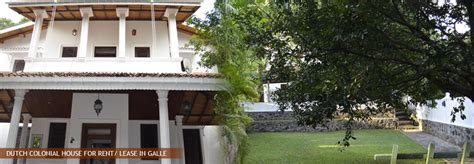 Furnished Dutch Colonial House for Rent/ Lease in Galle. Sell Buy Rent Properties in Sri Lanka