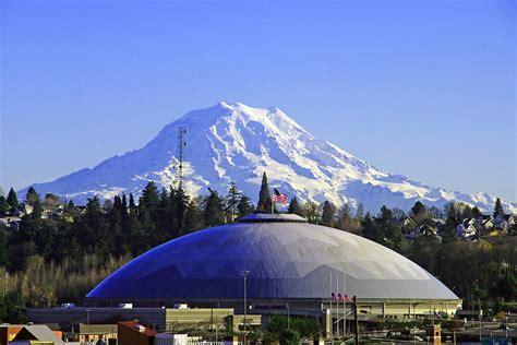 tacoma dome n mt rainier photograph by jack moskovita