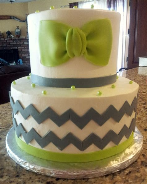 Bow Tie Baby Shower Cake by Bowtie And Chevron Baby Shower Cake Cakecentral