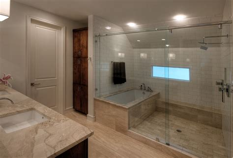 Shower And Bathroom Clever Design Ideas The Bath Tub In The Shower Drench The Bathroom Of Your Dreams