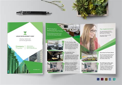 Company Proposal Brochure Design Template In Psd Word Publisher Illustrator Indesign Company Brochure Template