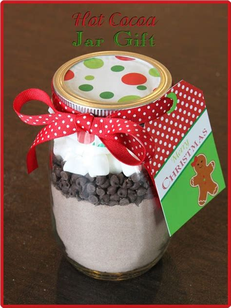 diy christmas hot cocoa jar gifts but add a mini bottle of