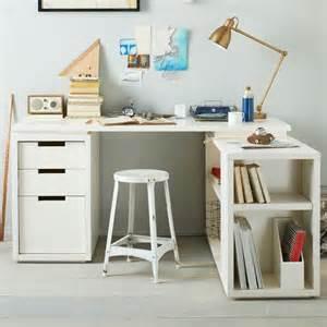 Desk L For Bedroom Modular Office L Shaped Desk Set White West Elm