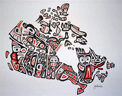 very cool map of canada canada pinterest native art