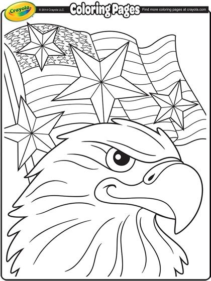 coloring pages flags holidays and free independence day eagle coloring page crayola com