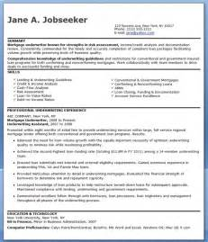 Mortgage Underwriting Resume mortgage underwriter resume exles resume downloads