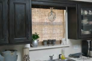 a burlap shade for my kitchen window
