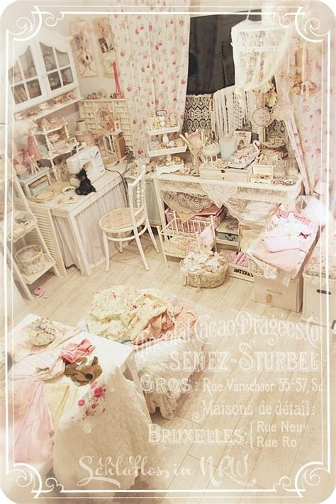amazing shabby chic craft room studio in creams and