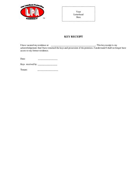 key receipt template key receipt hashdoc