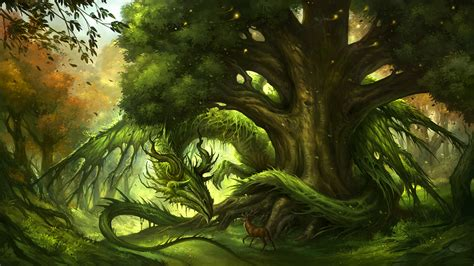 guardian   forest hd wallpaper background image