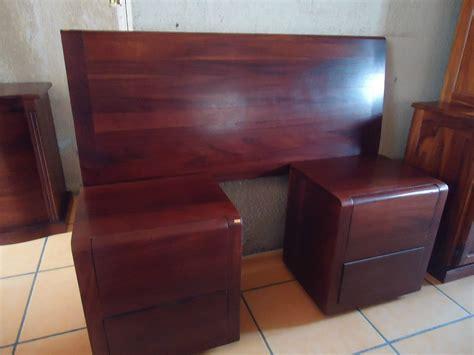 cabesera y buros estilo moderno madera solida de parota