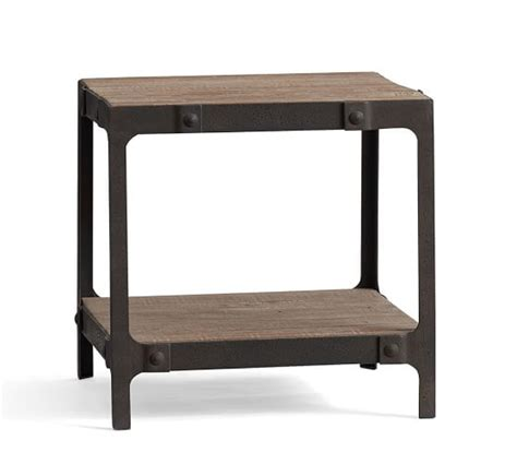 Reclaimed Wood Side Table Clint Reclaimed Wood Side Table Pottery Barn