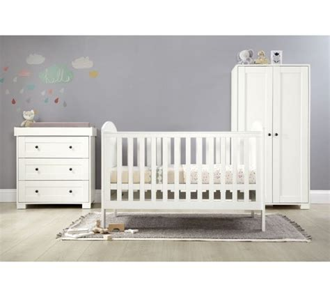 Buy M P Harrow 3 Piece Furniture Set White At Argos Co Buy Nursery Furniture Sets