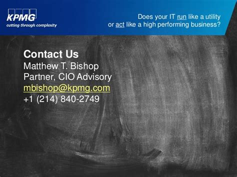 How Does Kpmg Inform You Of Your Offer Mba Internship by Does Your Information Technology Run Like A Utility Or