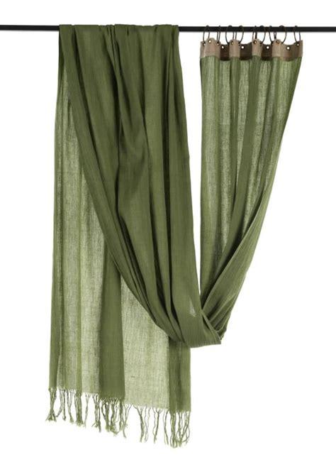 Rideaux Coton by Crepon Voilage En Coton Vert