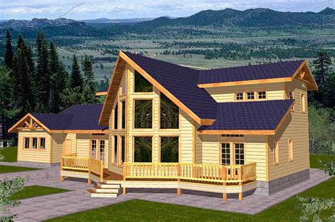 mountain view house plans mountain home plan for view lot 35100gh architectural