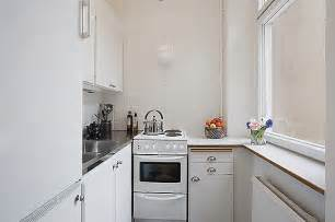Small Kitchen Design For Apartments by Clean White Small Apartment Interior Design With