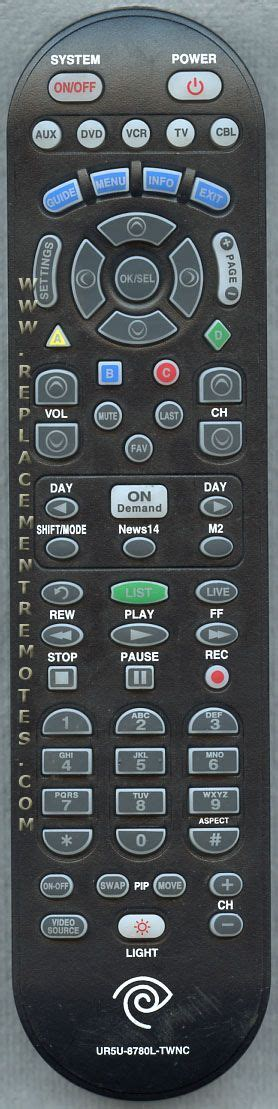 Buy 5 Gratis 5 Remote buy time warner ur5u 8780l twnc ur5u8780ltwnc cable box remote