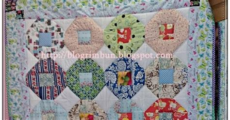 Mesin Quilting Bed Creativity In Me Single Quilt Scrappy Snowballs For Sale