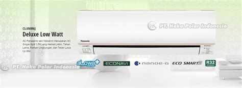 Daftar Ac Panasonic 1 Pk Low Watt jual ac panasonic cs xn9rkj 1 pk split low watt deluxe