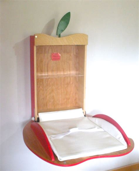 Baby Changing Table Wall Mounted Apple Design Mounted Changing Table