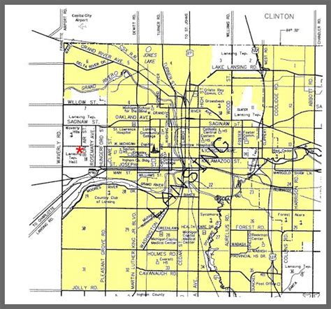 Ingham County Property Records Road Department Gt Resources Gt Township Maps Gt Lansing Township