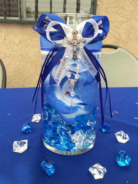 boy baptism center piece baptism ideas pinterest