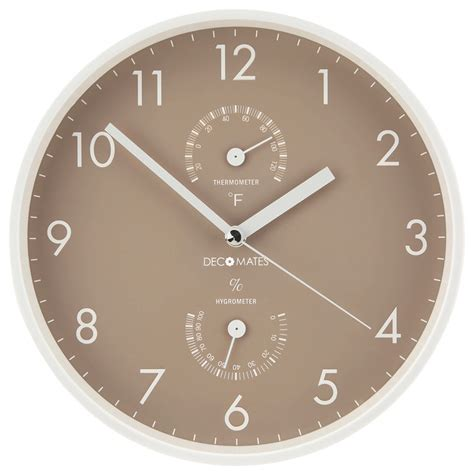 modern multiplex silent wall clock decomates non ticking silent wall clock taupe white with built in