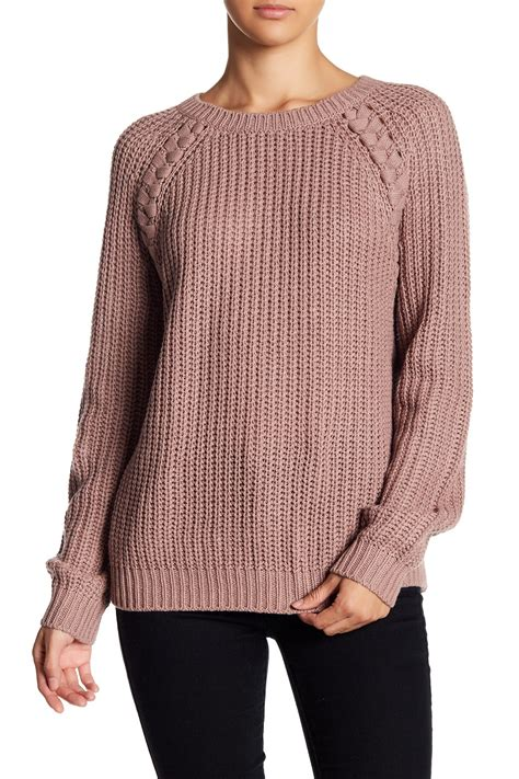 braided knit sweater abound braided knit sweater nordstrom rack