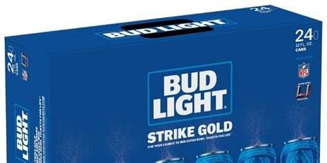 bud light gold can five decades of bowl tickets in one gold can of bud