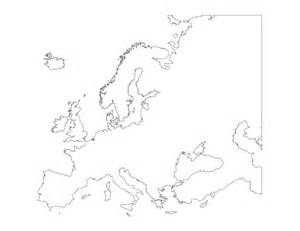 geography blank map of europe printable outline map