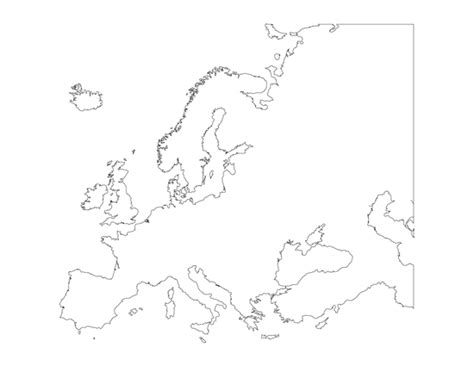 blank european maps geography blank map of europe printable outline map