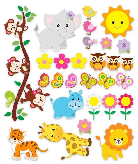 imagenes infantiles animales vinilos infantiles kit animales de la jungla 3 baby