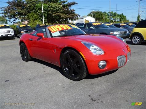 pontiac sports car 2006 pontiac solstice roadster in aggressive red 110792