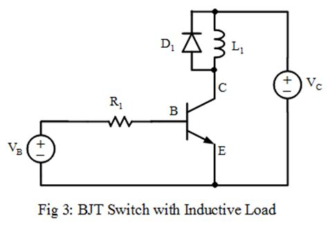 transistor load or switch bipolar junction transistor bjt switch analog electronics tutorials