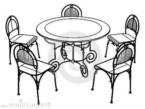 Dining Room Table Clipart Black And White Furniture Clipart Dinner Table Pencil And In Color Furniture Clipart Dinner Table