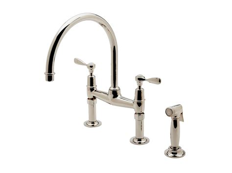 waterworks kitchen faucets 2018 waterworks easton classic two bridge gooseneck kitchen faucet metal lever handles and