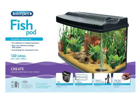 120 liter aquarium 4107 interpet fish pod 120 litre aquarium tank complete set up