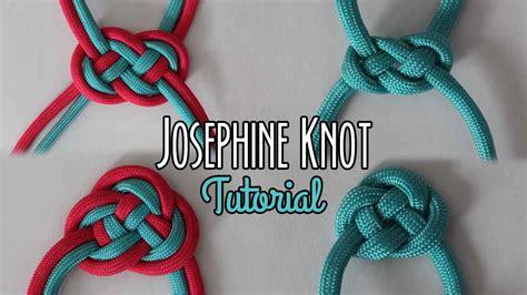 Simple Decorative Knots - josephine knot tutorial