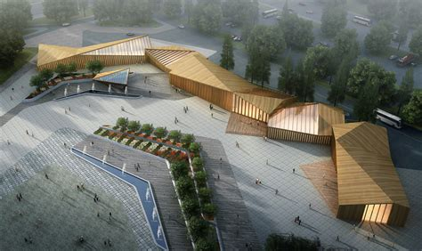 arch lab architects 8th china flower expo information center by lab