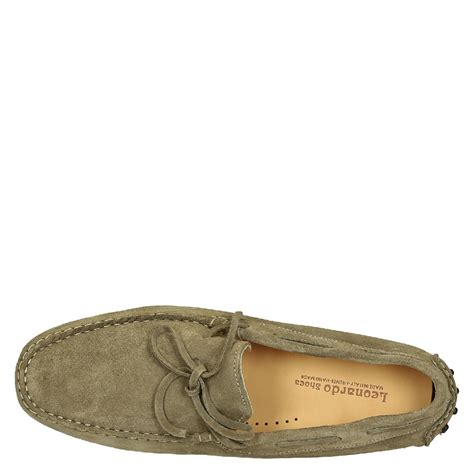 Mens Handmade Moccasins - mens moccasins in mud color suede leather leonardo