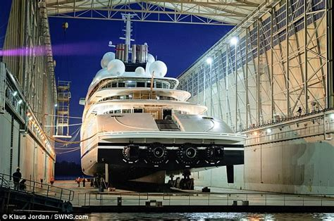biggest private ships in the world world s largest yacht set to stand 222metres long and cost