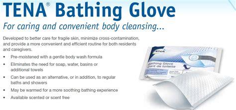 Bathing Glove tena 174 bathing glove scent free