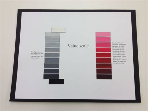 Value Black black white value scale translated with hue value