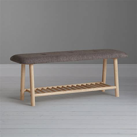 cushioned dining bench buy says who for john lewis why wood 2 seater cushioned