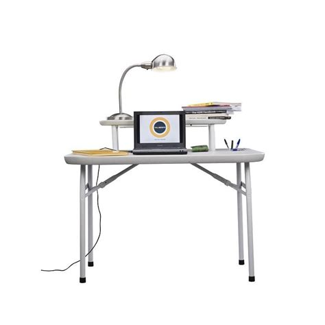 Folding Desk With A Shelve Home Office Furniture Folding Office Desk
