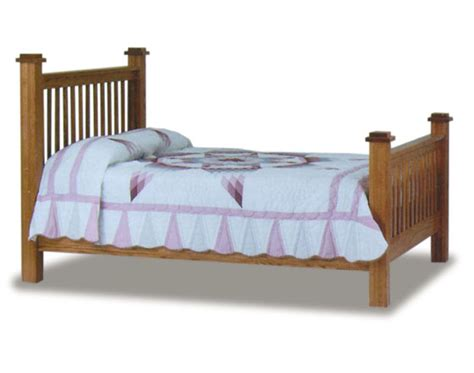 mission solid mango wood 4 post bed with canopy frame amish mission 4 quot post bed amish bedroom furniture