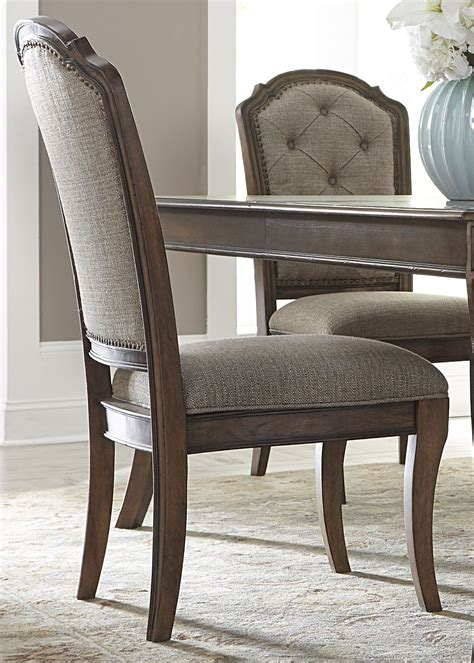 K D Kruwil Set Amalia amelia antique toffee upholstered side chair set of 2 from