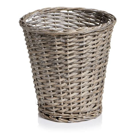 waste paper bins wilko willow waste paper bin grey at wilko com